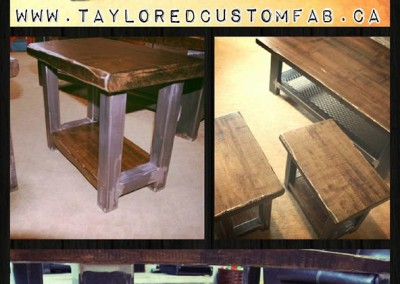 Expanded Metal Coffee Table & End Tables
