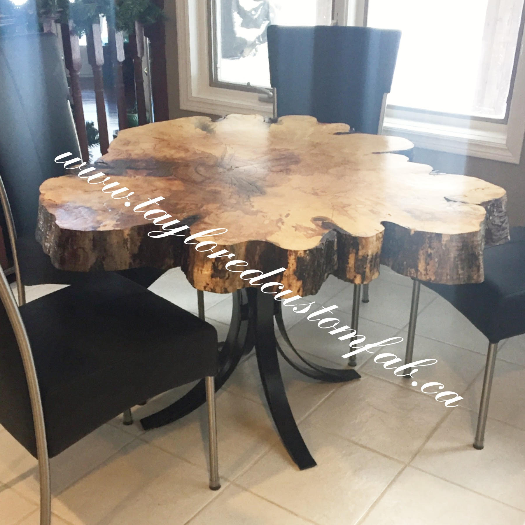 Curved Dining Table - Taylored Custom Fab