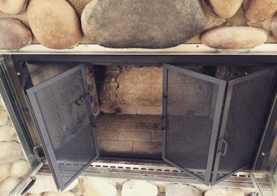 Tri-Fold Fireplace Screen
